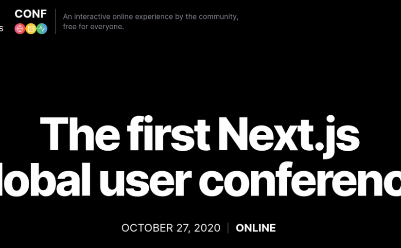 Next.js online conference – October 27, 2020
